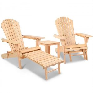 Adirondack Chairs and Ottoman Set | Afterpay | zipPay | Oxipay