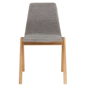 Arlo Dining Chair Size W 52cm x D 57cm x H 84cm in Grey Freedom
