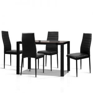 Astra 5-Piece Dining Table and Chairs Sets - Black