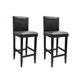 Bar Stools 2 pcs Artificial Leather Black | Afterpay | zip | Laybuy