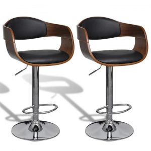 Bar Stools 2 pcs Artificial Leather with Backrest | Afterpay | zip |