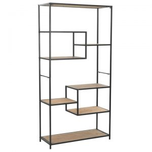 Bookcase Solid Firwood and Steel 90.5x35x180 cm | Afterpay | zip |