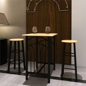 Breakfast/Dinner Table Dining Set MDF with Black | Afterpay | zip |