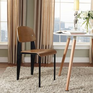Cabin Dining Side Chair in Walnut Black