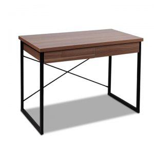 Computer Desk with Drawers Walnut | Afterpay | zipPay | Oxipay