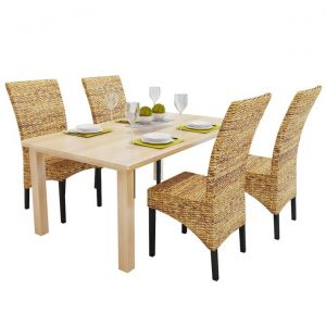 Dining Chairs 4 pcs Abaca Brown | Afterpay | zip | Laybuy