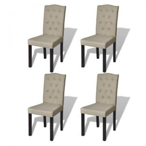 Dining Chairs 4 pcs Beige | Afterpay | zip | Laybuy