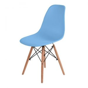 Dining Chairs Retro Replica Office Cafe Lounge Chair Ocean Blue X4