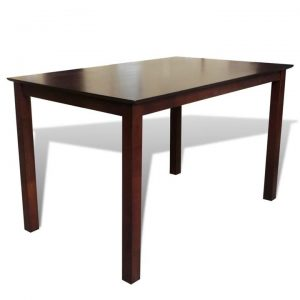 Dining Table 110 cm Solid Wood Brown | Afterpay | zip | Laybuy