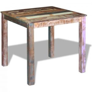 Dining Table Solid Reclaimed Wood 80x82x76 cm | Afterpay | zip |