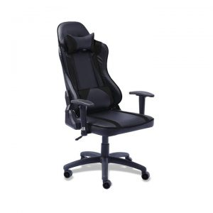 Executive Gaming Office Chair Racing Computer PU Leather Recliner Black