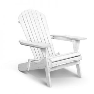 Foldable Adirondack Chair - White | Afterpay | zipPay | PayItLater