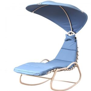 Hammock Swing Chair Outdoor Hanging Canopy Lounge Chaise Seat Patio Bed Garden