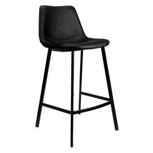 Hari Leather Bar Stool (Set of 2)