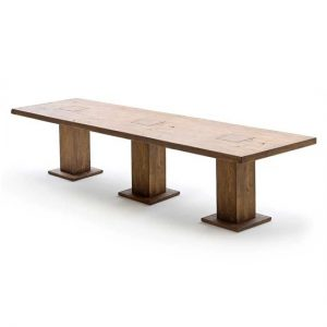 Mancinni 400cm Dining Table In Bassano Oak With 3 Pedestals