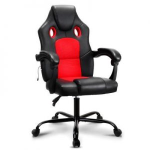 Massage Office Chair Gaming Computer Seat Recliner Racer - Red