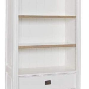 Oakdale Oak and Painted 3 Drawer 3 Shelves Bookcase