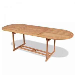 Outdoor Dining Table 240x90x75 cm Teak | Afterpay | zip | Laybuy