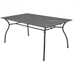 Outdoor Dining Table Steel Mesh 150x90x72 cm | Afterpay | zip | Laybuy