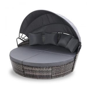 Outdoor Lounge Setting Patio Furniture Sofa Wicker Garden Rattan