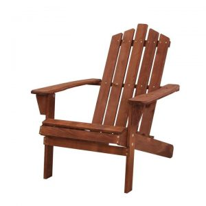 Outdoor Sun Lounge Beach Chairs Table Setting Wooden Adirondack Patio Brown Chair