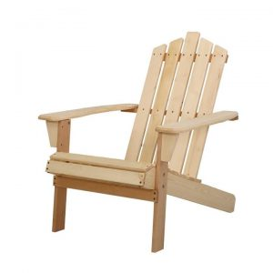 Outdoor Sun Lounge Beach Chairs Table Setting Wooden Adirondack Patio Chair Light Wood Tone