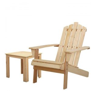 Outdoor Sun Lounge Beach Chairs Table Setting Wooden Adirondack Patio Chair Lounges Wood