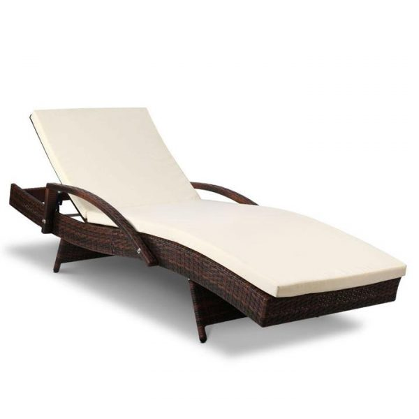 Outdoor Sun Lounge - Brown