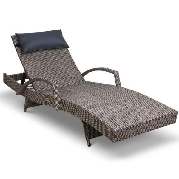 Outdoor Sun Lounge Furniture Day Bed Wick | Afterpay | zipPay | PayItLater