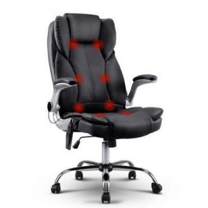 PU Leather 8-point Massage Office Chair B | Afterpay | zipPay | Oxipay
