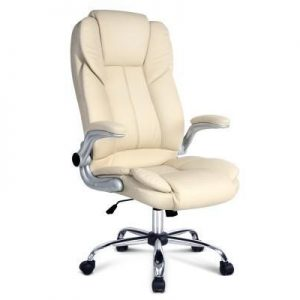 PU Leather Executive Office Chair - Beige | Afterpay | zipPay | Oxipay