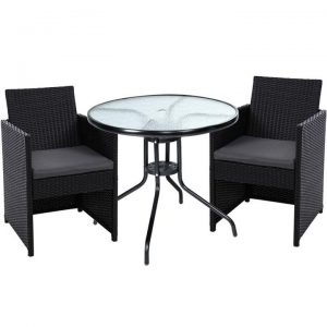 Patio Furniture Dining Chairs Table Patio Setting Bistro Set Wicker Tea Coffee Cafe Bar Set