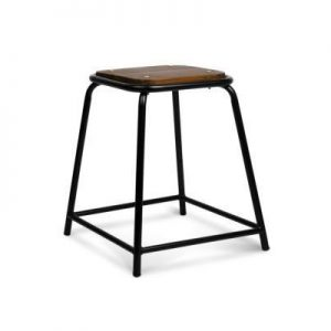 Set of 4 Stackable Wooden Seat Stools - 48.5CM | Afterpay | zipPay