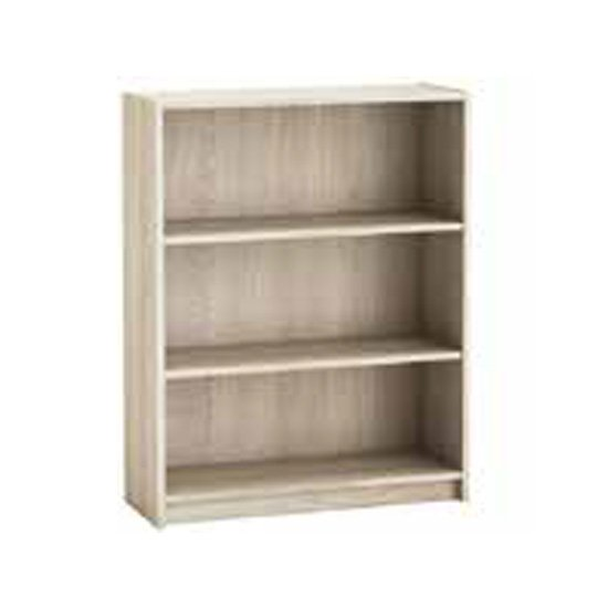 Sharatan Wooden Bookcase In Shannon Oak With 2 Shelves