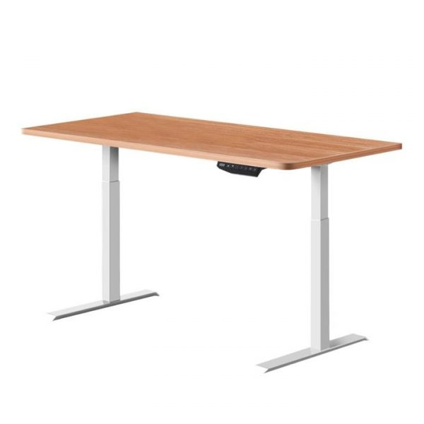 Standing Desk Sit Stand Riser Motorised Electric Computer Laptop Table Home Office Dual Motor 120cm