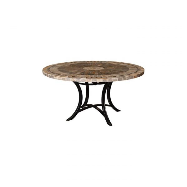Sunray Outdoor Slate Round Dining Table