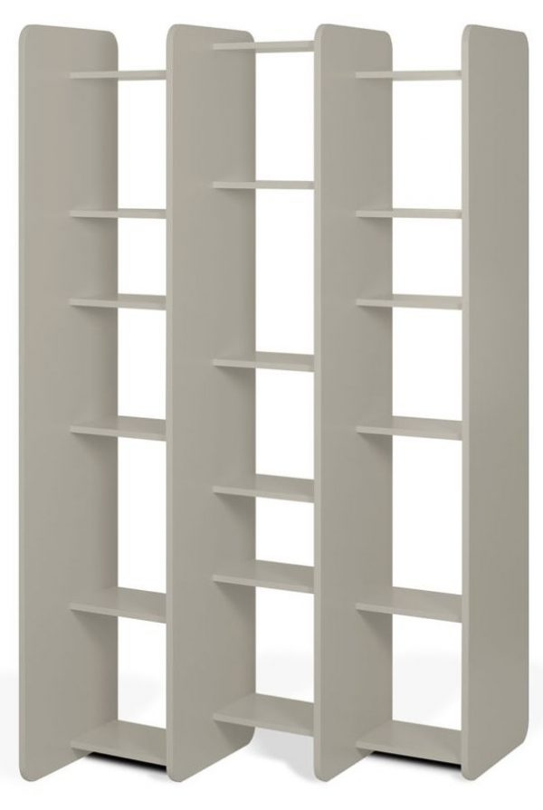 Temahome Twin Matt Grey Bookcase