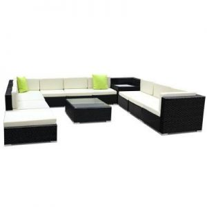 12PC Outdoor Furniture Sofa Set Wicker Ga | Afterpay | zipPay | PayItLater