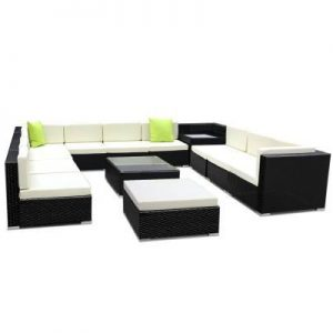 13PC Outdoor Furniture Sofa Set Wicker Ga | Afterpay | zipPay | PayItLater