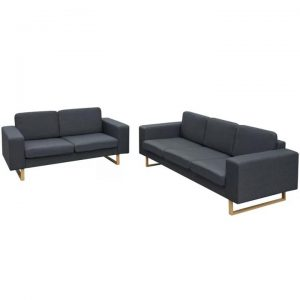2-Seater and 3-Seater Sofa Set Dark Grey | Afterpay | zip | Laybuy