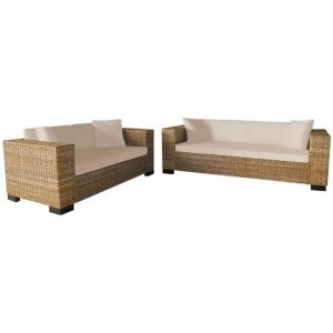 2-Seater and 3-Seater Sofa Set Real Rattan | Afterpay | zip | Laybuy