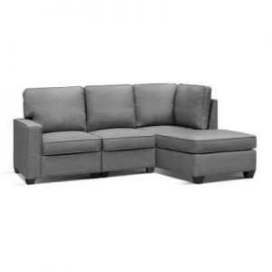 4 Seater Sofa Set Bed Modular Lounge Chair Chaise Suite Fabric |