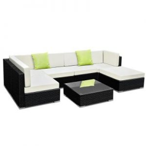 7PC Outdoor Furniture Sofa Set Wicker Gar | Afterpay | zipPay | PayItLater