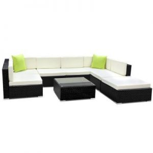 8PC Outdoor Furniture Sofa Set Wicker Gar | Afterpay | zipPay | PayItLater