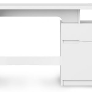 Alphason Bridport Glossy White Computer Desk - AW3130