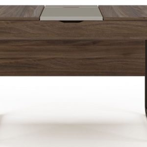 Alphason Dorset Walnut and Grey Computer Desk - AW3170