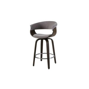 Artiss Bar Stool Wooden Swivel Kitchen Dining Chair Grey