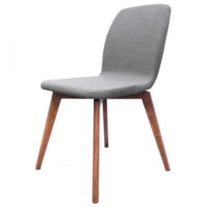 Asha Linen Fabric Dining Chair, Grey