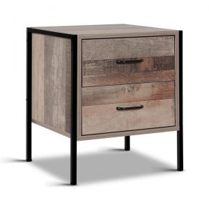 Bedside Table Drawers Nightstand Metal Oa | Afterpay | zipPay | PayItLater