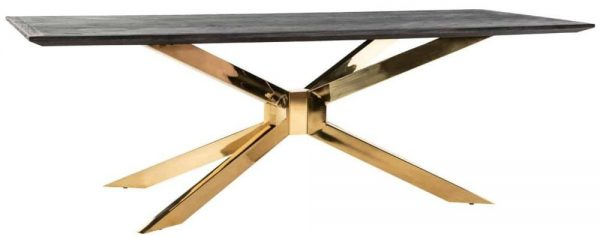 Blackbone Matrix Gold and Chrome Dining Table